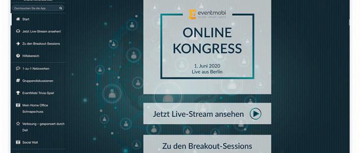 EventMobi für einen Online-Kongress