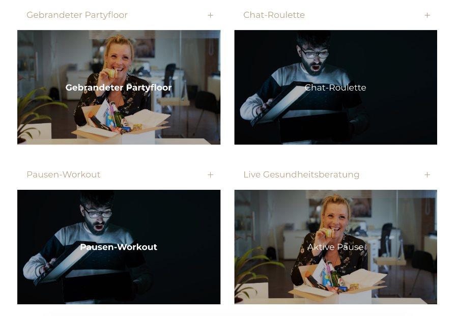 Online Event Box hat auch Ideen für virtuelle Pausen