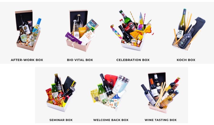 Die Online Event Box gibt es in verschiedenen Ausführungen