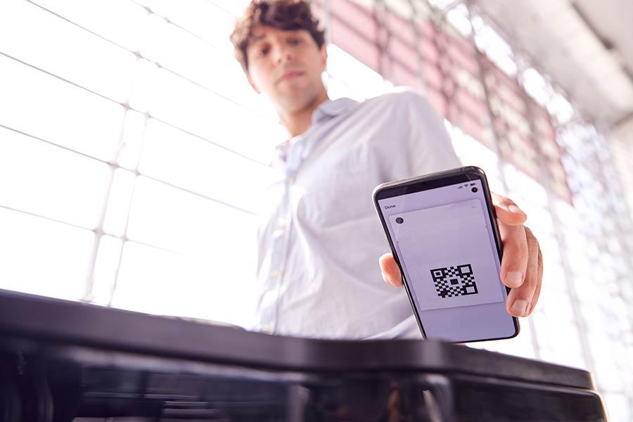 kontatkloser Check-In mit Teilnehmer-Software
