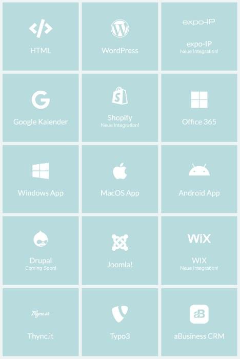 Binde Okomo mit Minimalaufwand in deine Webseite oder viele andere Anwendungen ein