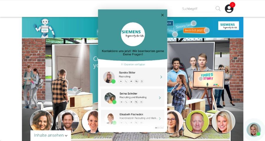 Das Okomo-Widget lässt sich in wenigen Klicks einfach dem eigenen Stand-Design anpassen