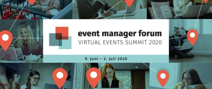 Event Manager Forum 2020 | Learnings aus der virtuellen Eventreihe