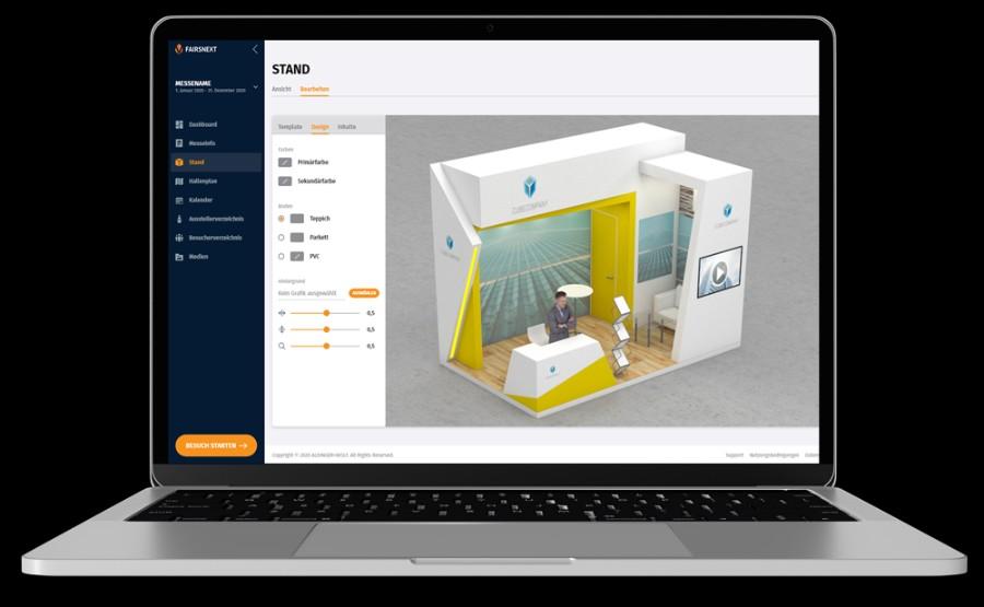 Der Fairsnext Konfigurator für virtuelle 3D-Messestände