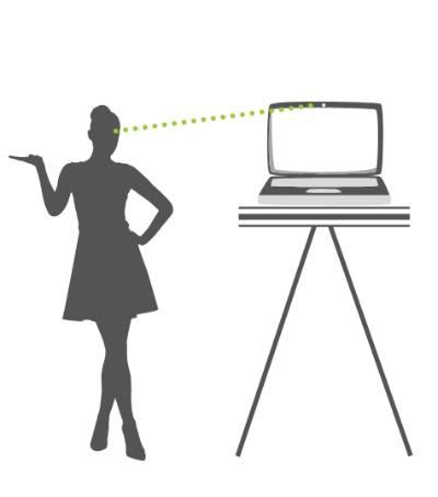 Kamera auf Augenhöhe – bei virtuellen Events
