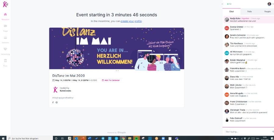 Online Events mit KahnEvents: DisTanz im Mai