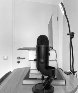 Set-Up für Online Vorträge