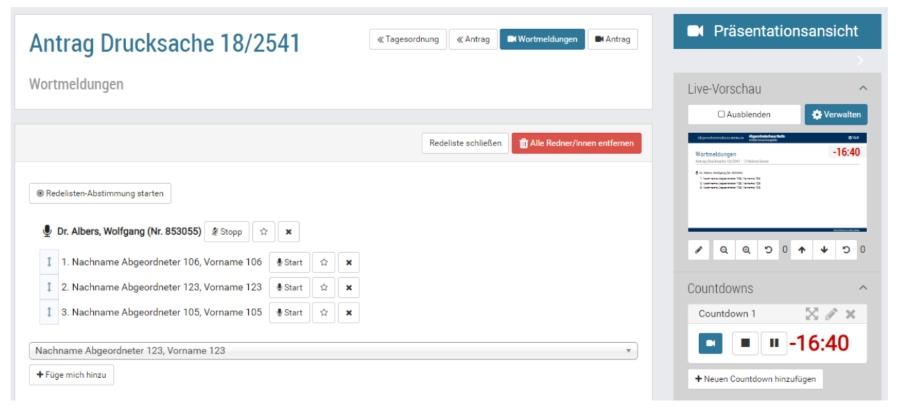 Wortmeldungen auf virtuellen Hauptversammlungen mit Vote@Home managen