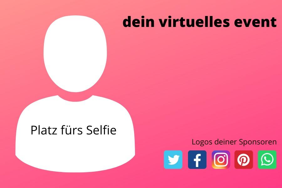 gebrandetes Selfie von deinem virtuellen event
