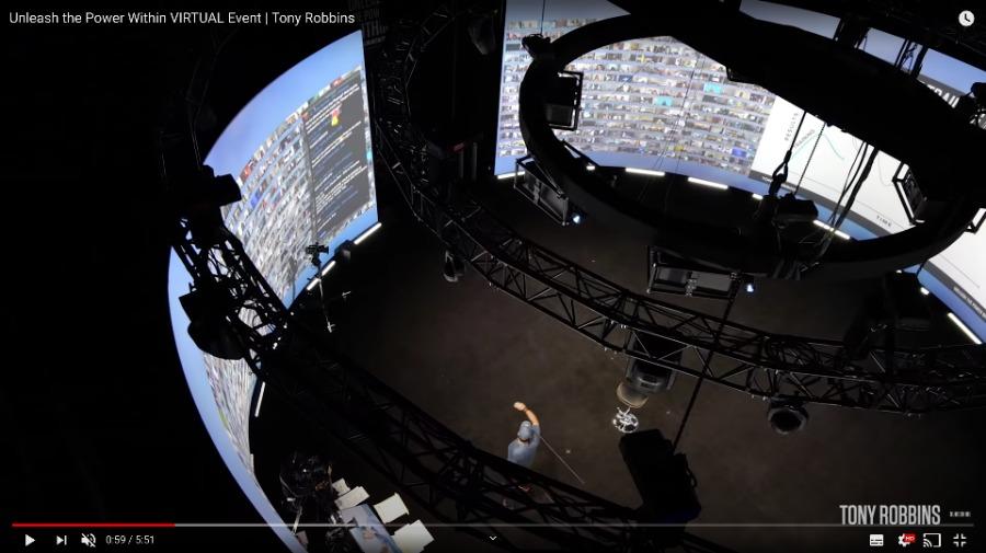 360 Grad Leinwand für eine grandiose Atmosphäre auf virtuellen Events