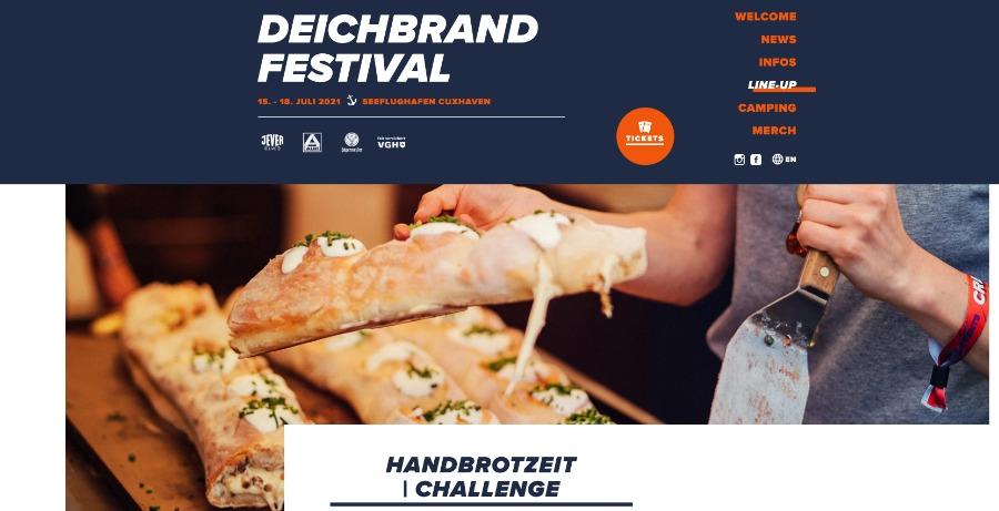 Challenges auf Online-Events: Handbrotzeit-Challenge beim virtuellen Deichbrand Festival