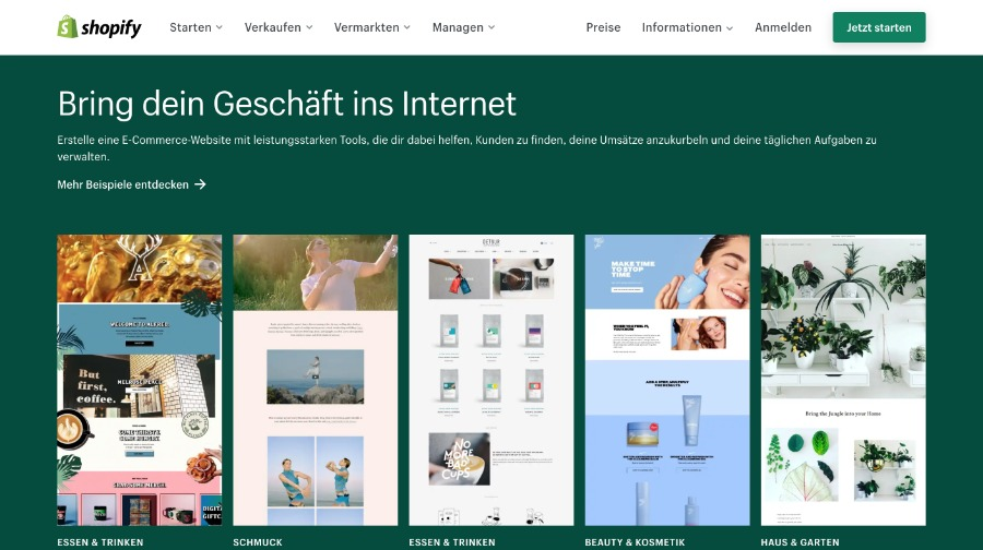 E-Commerce-Plattform shopify