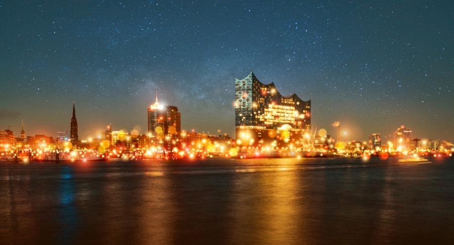 Eine App verwandelt Hamburg in ein Lichtermeer