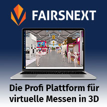 Fairsnext Plattform für virtuelle Messen in 3D