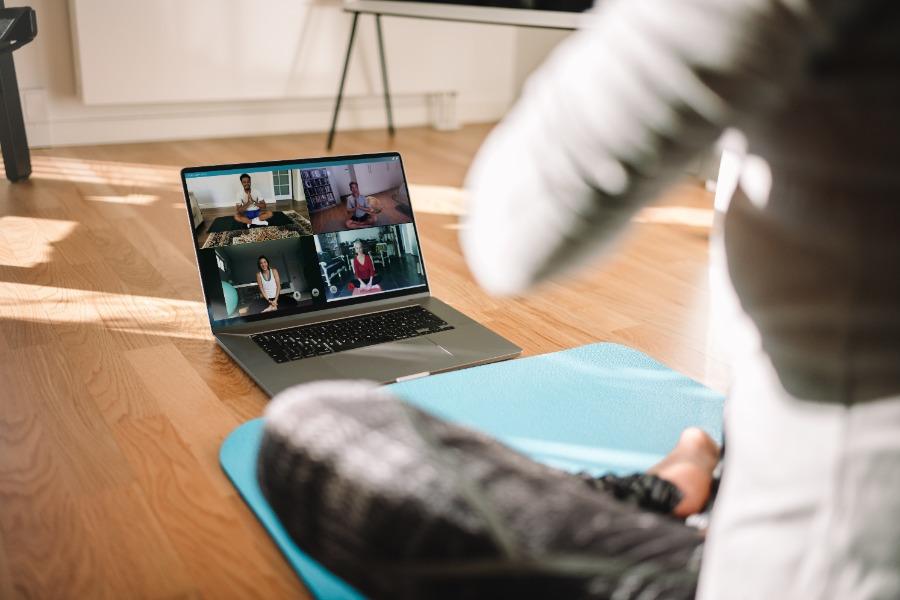 Fitnesspausen bei Online-Events