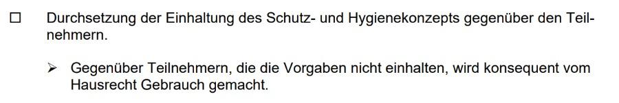 Vom Hausrecht Gebrauch machen | Landesverordnung Bayern