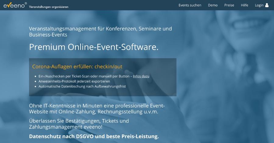 Kontaktverfolgung mit dem Teilnehmermanagement von eveeno