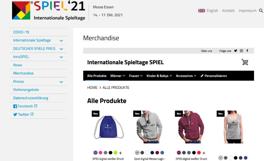 Merchandise Shop für dein virtuelles Event | Beispiel: Spiel digital