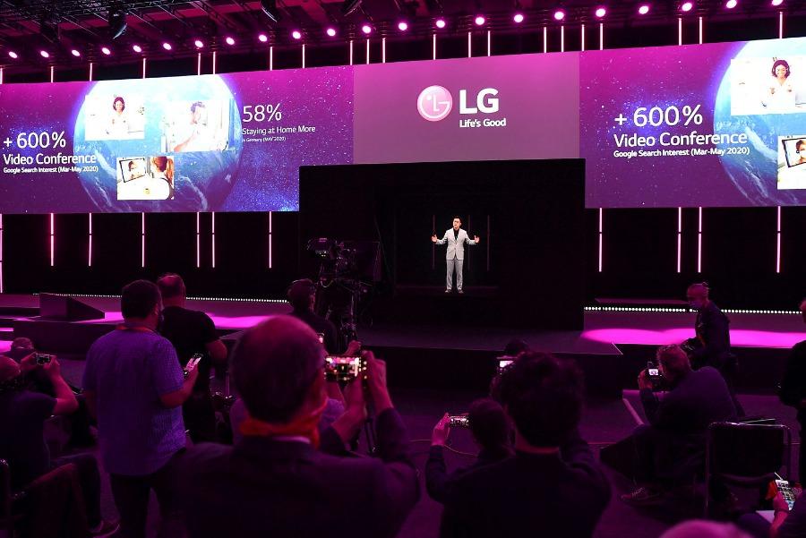 Messe Berlin: IFA 2020 LG CTO als Hologramm