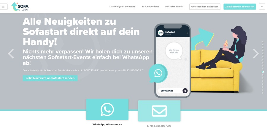 WhatsApp-Abholservice statt langweiliger Newsletter-Abos