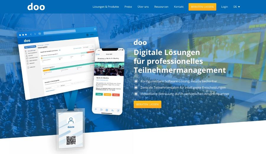 doo – Software für Teilnehmermanagement und Kontaktverfolgung