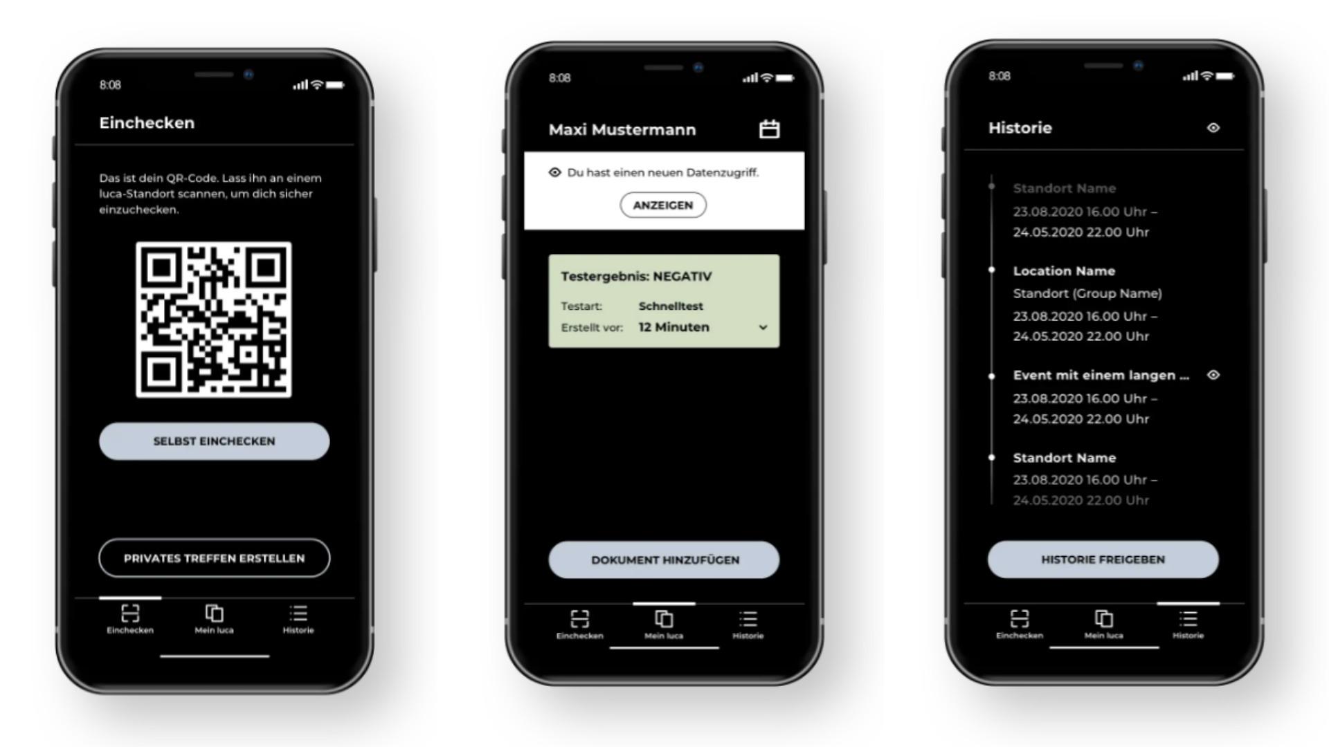 Luca-App | mit Testergebnis und Impfnachweis für deine Teilnehmer