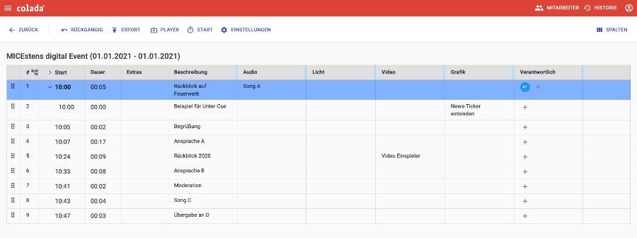 wie in Excel und doch browserbasiert Regieplan gemeinsam erstellen