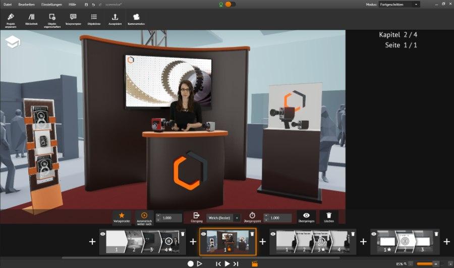 Mit Cinector STAGE erstellst du schnell und einfach virtuelle Messe-Shows