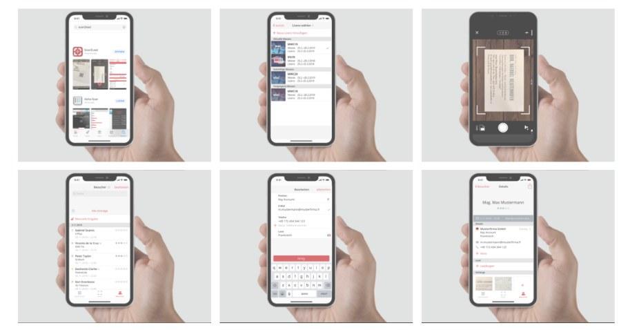 Mit Scan2Lead kannst du Messekontakte digital erfassen