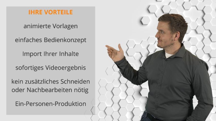 Videos professionell erstellen | mit Cinector STAGE | Vorteile