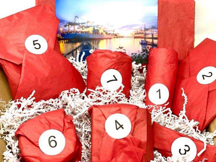 nummerierte Geschenke für die virtuelle Weihnachtsfeier
