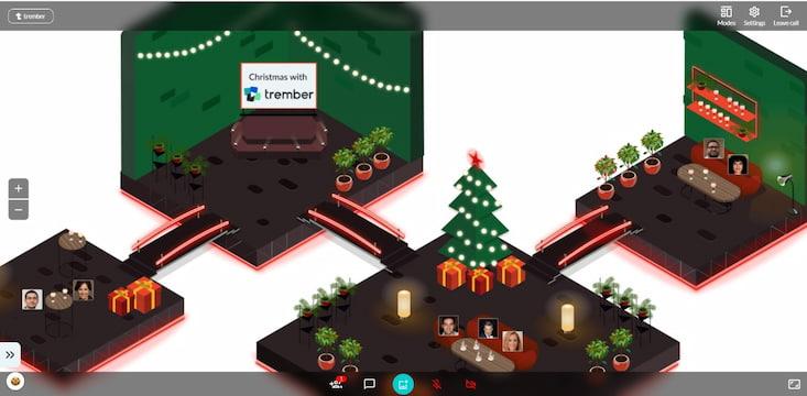weihnachtlicher virtueller Hintergrund von trember