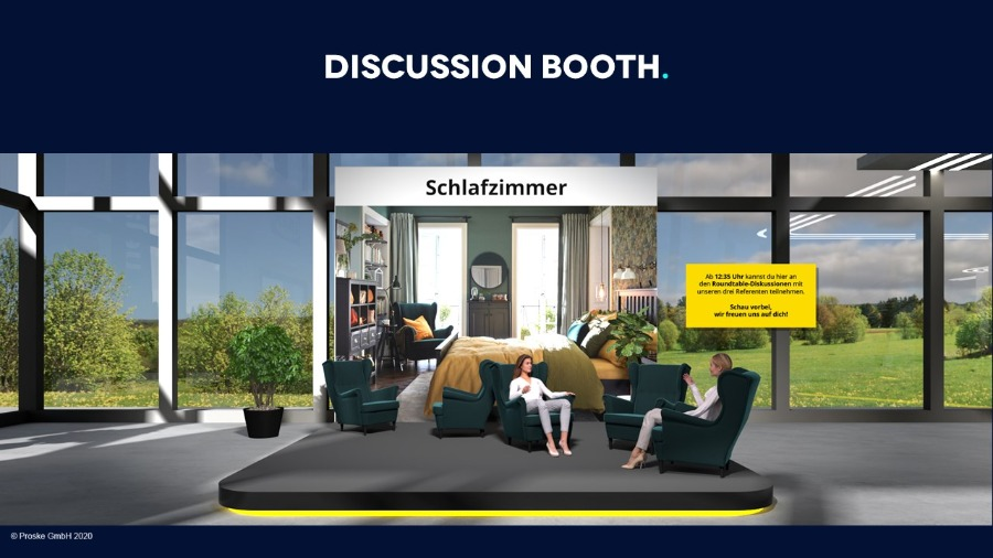 Discussion Booth auf Online Events