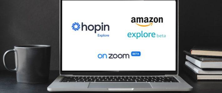 OnZoom, Amazon Explore und Hopin Explore als Eventplattform und Marketplace