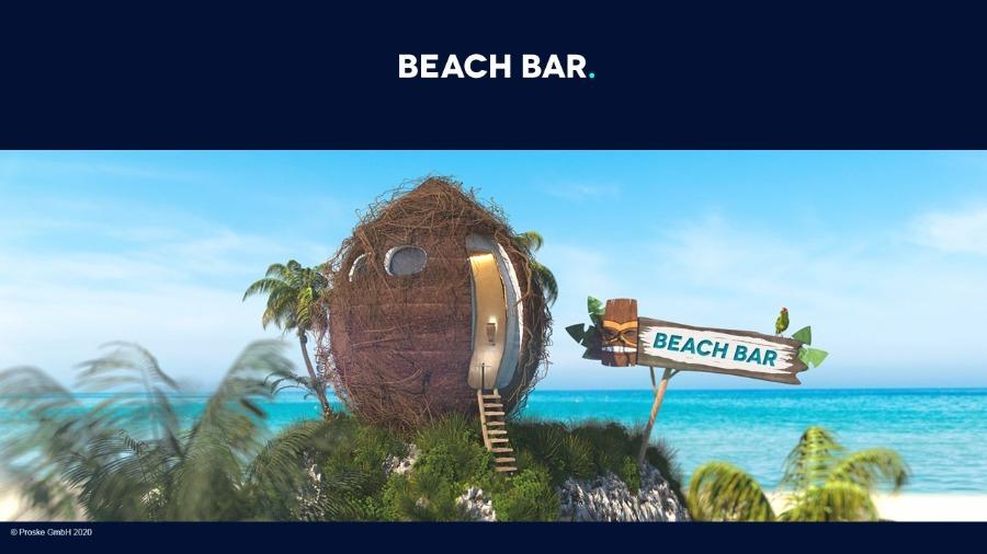 Virtuelle Cocktailbar mit Proske Virtual Venue