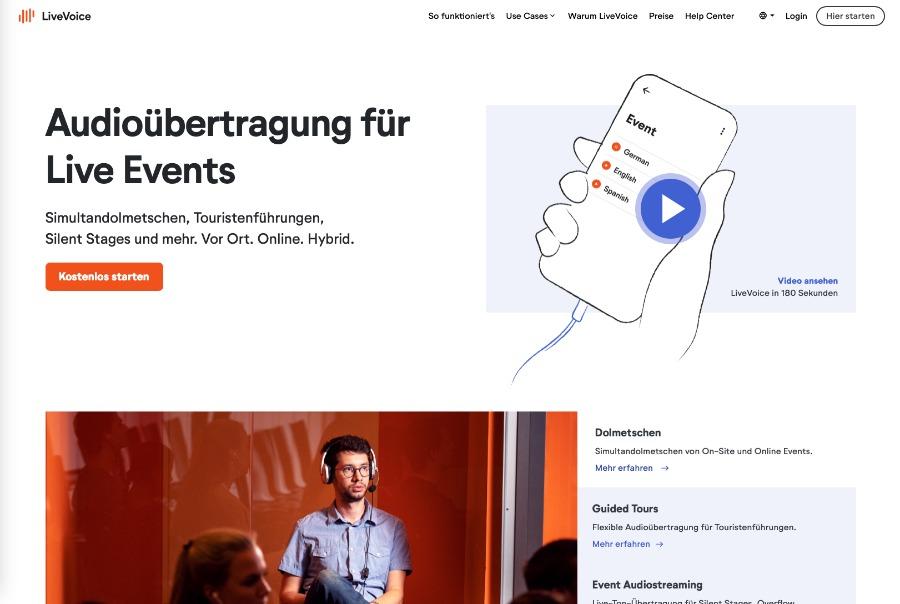 LiveVoice: Audio-Übertragung bei Online-Events und Hybrid-Events