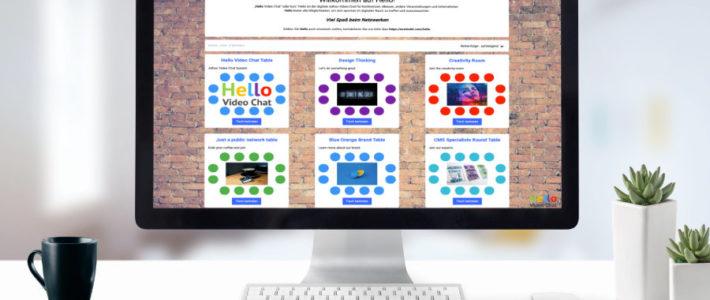 online netzwerken auf Onlineevents oder intern mit HelloSpaces