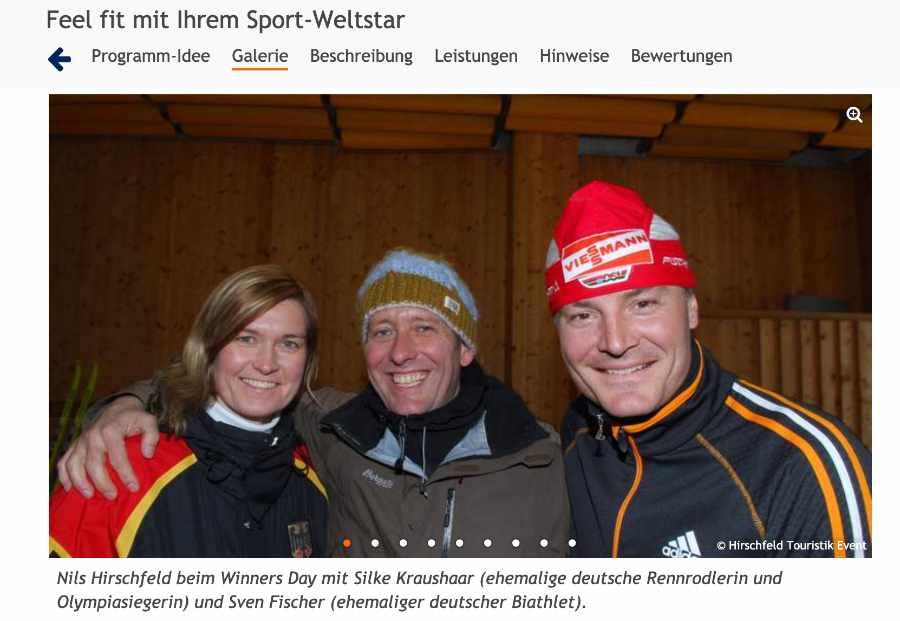 sportliches Rahmenprogramm für Onlineevents mit Hirschfeld