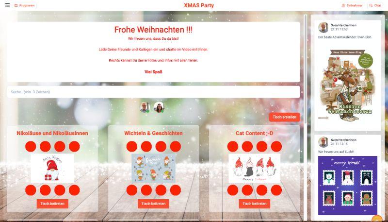virtuelle Weihnachten mit HelloSpaces