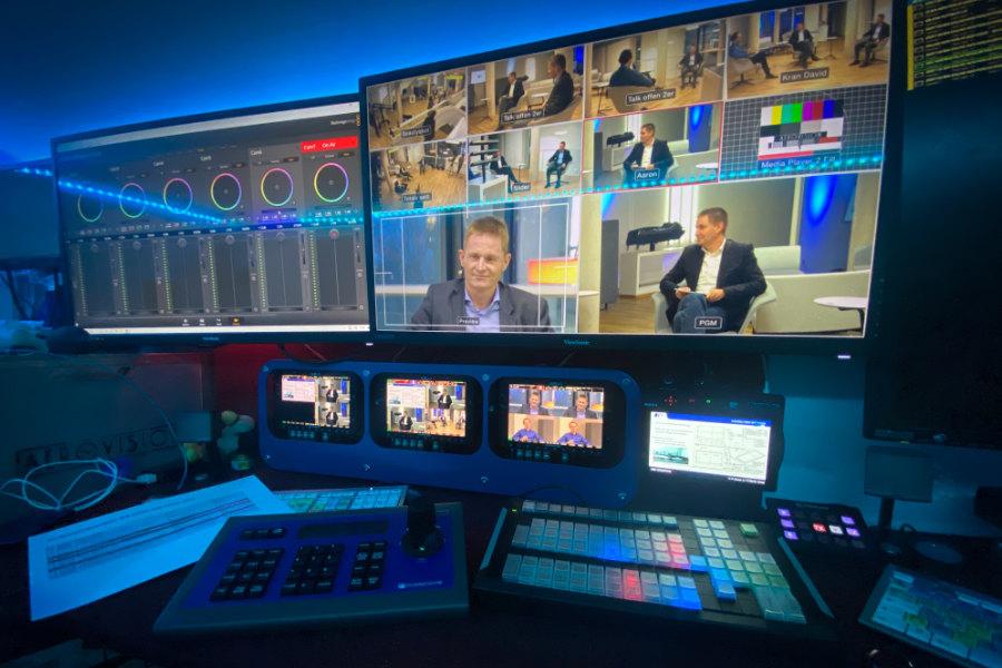 Blick hinter die Kulissen des Live-Streamings bei einem Online-Event mit Aerovision Broadcast