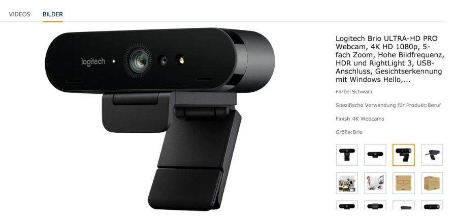 Logitech BRIO-STREAM: externe Webcam für Online-Events