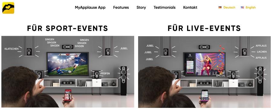 MyApplaus: virtueller Applaus für Online-Events
