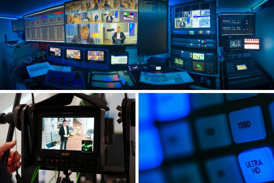 Profitechnik für Live-Streaming von virtuellen Events
