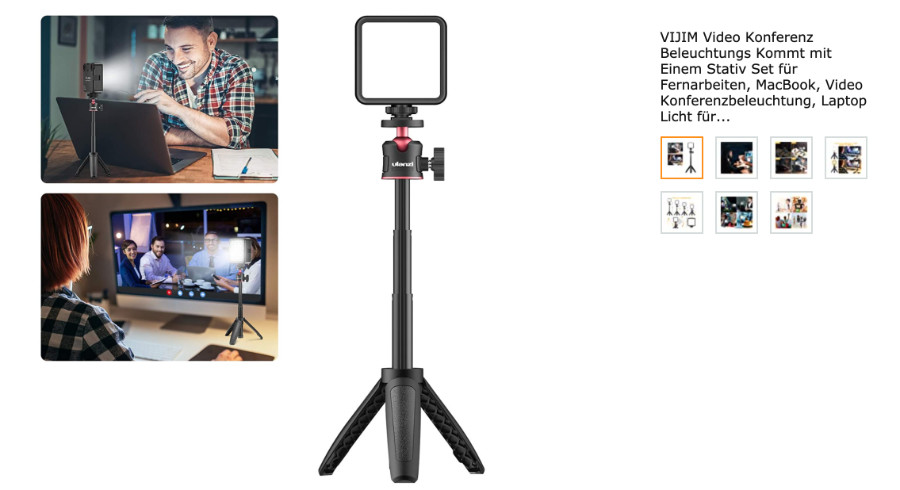 Videoleuchte VIJIM – Licht für Online-Events