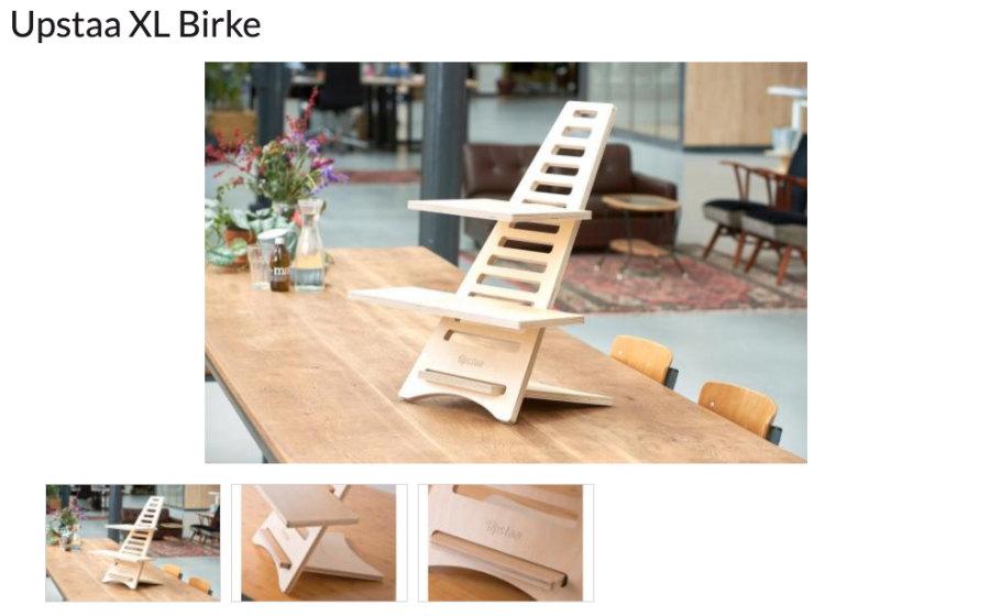 ergo2work: Upstaa-XL-Birke | Ausstattung für Online-Events