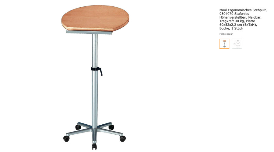 ergonomisches Stehpult für das Home-Office