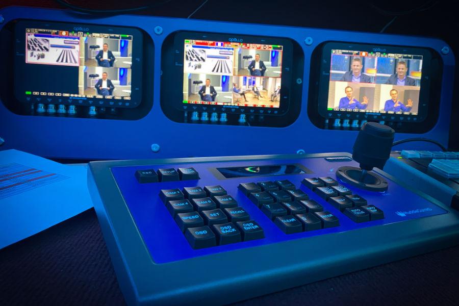mobiles Sendestudio für Live-Streaming bei Online-Events mit Aerovision Broadcast