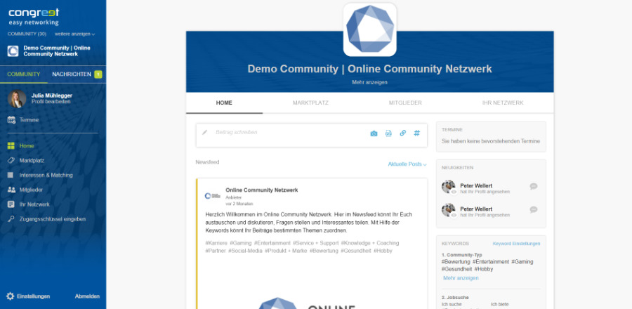 Event-Plattform congreet
