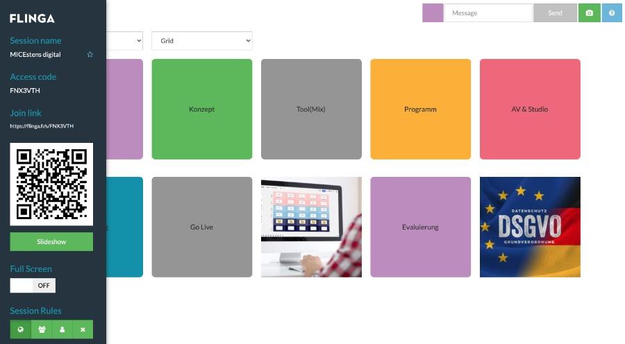 Flinga: Tool für Mindmapping und Online-Workshops