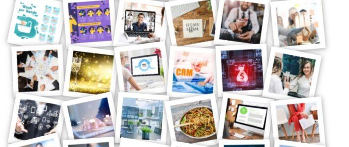Foto-Collage für kleinere Teilnehmerzahl